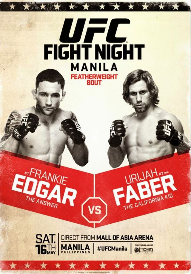 Кард турнира UFC Fight Night 66: Эдгар vs. Фабер